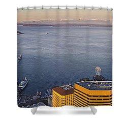 Elliott Bay Morning Sunrise Shower Curtain
