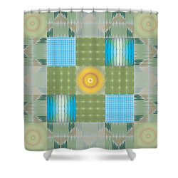 Shower Curtain featuring the digital art Ellipse Quilt 1 by Kevin McLaughlin