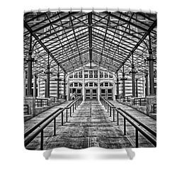 Ellis Island Entrance Shower Curtain