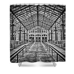 Ellis Island Entrance Shower Curtain