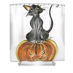 Elma's Pumpkin Shower Curtain