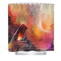 Elonia Shower Curtain by Francoise Dugourd-Caput