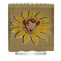 Elsie The Borden Cow  Shower Curtain