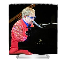 Elton John Live Shower Curtain by Aaron Martens