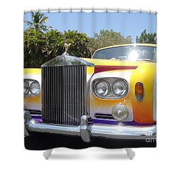 Elton John's Old Rolls Royce Shower Curtain by Barbie Corbett-Newmin