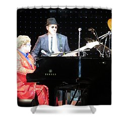 Elton Plays The Blues In Macon Ga Shower Curtain by Aaron Martens