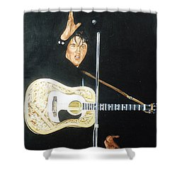 Elvis 1956 Shower Curtain by Bryan Bustard