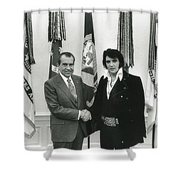 Elvis And Nixon Shower Curtain