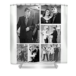 Elvis Collage Shower Curtain by Chuck Staley