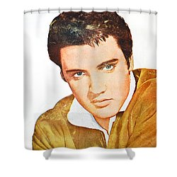 Elvis Colored Portrait Shower Curtain