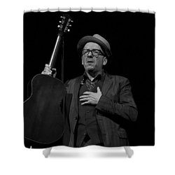 Elvis Costello Shower Curtain