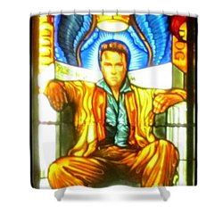 Elvis Shower Curtain by Crystal Loppie