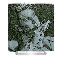 Elvis Live '56 Shower Curtain by Rob De Vries