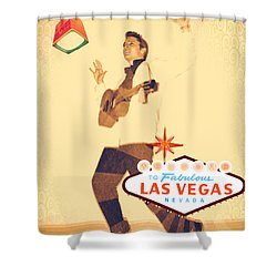 Elvis On Tv Shower Curtain