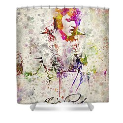 Elvis Presley Shower Curtain by Aged Pixel