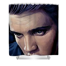 Elvis Presley Artwork 2 Shower Curtain by Sheraz A