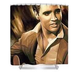 Elvis Presley Artwork Shower Curtain by Sheraz A