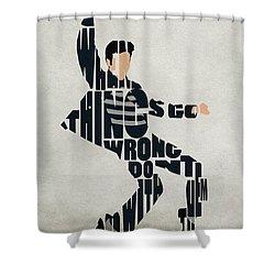Elvis Presley Shower Curtain by Ayse Deniz