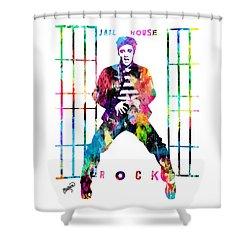 Elvis Presley Jail House Rock Shower Curtain