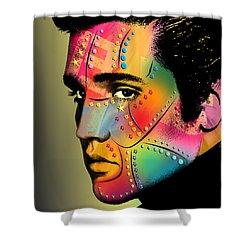 Elvis Presley Shower Curtain by Mark Ashkenazi
