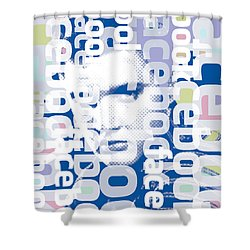 Elvis Presley On Facebook Shower Curtain