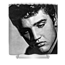 Elvis Presley Painting Shower Curtain by Florian Rodarte