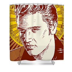 Elvis Presley Pop Art Shower Curtain