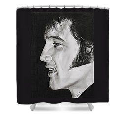 Elvis Presley  The King Shower Curtain by Fred Larucci