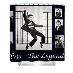 Elvis Presley - The Legend Shower Curtain