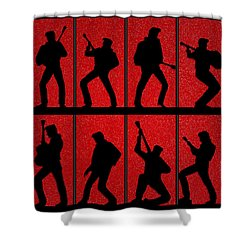 Elvis Silhouettes Comeback Special 1968 Shower Curtain by Liz Leyden
