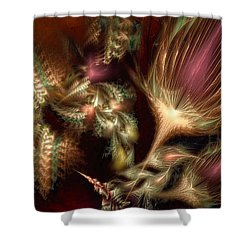 Shower Curtain featuring the digital art Elysian by Casey Kotas