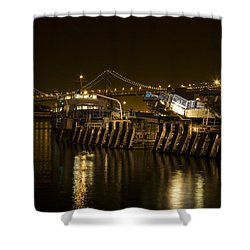 Embarcadero Boats Shower Curtain