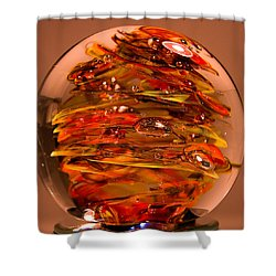 Ember Swirls  Fe1 Shower Curtain by David Patterson