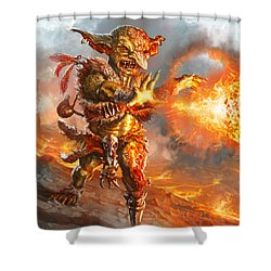 Embermage Goblin Shower Curtain