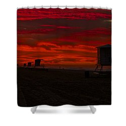 Shower Curtain featuring the photograph Embers Of Dawn by Duncan Selby