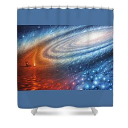 Embers Of Exploration And Enlightenment Shower Curtain