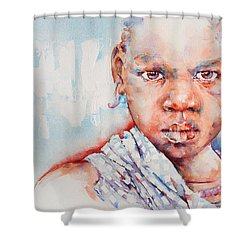 Embolden - African Portrait Shower Curtain by Stephie Butler