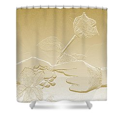 Embossed Gold Rose By Jan Marvin Studios Shower Curtain