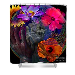 Solar Sunrise Shower Curtain