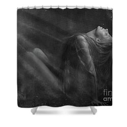 Embraced By The Light.. Shower Curtain by Nina Stavlund