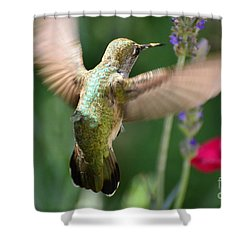 Embracing The Garden Shower Curtain by Debby Pueschel