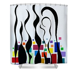 Embracing Shower Curtain