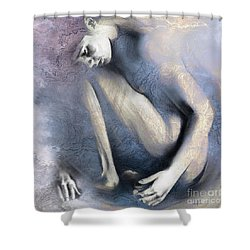 Embryonic II. Textured Square Shower Curtain