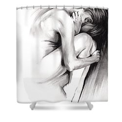 Embryonic IIi Shower Curtain by Paul Davenport