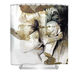 Embryonic IIi With Texture Shower Curtain by Paul Davenport