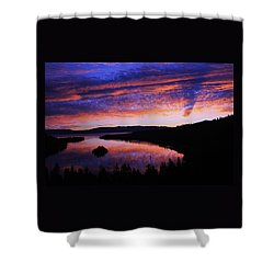Shower Curtain featuring the photograph Emerald Bay Awakens by Sean Sarsfield