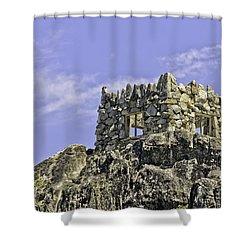 Emerald Bay Lake Tahoe Tea House Shower Curtain by LeeAnn McLaneGoetz McLaneGoetzStudioLLCcom