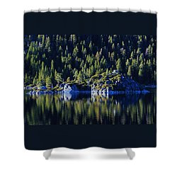 Shower Curtain featuring the photograph Emerald Bay Teahouse by Sean Sarsfield