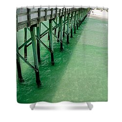 Shower Curtain featuring the photograph Emerald Green Tide  by Susan  McMenamin