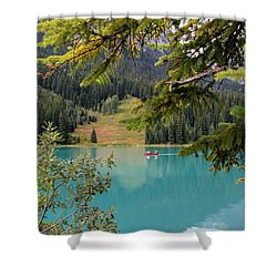 Emerald Lake British Columbia Shower Curtain